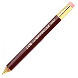OHTO Wooden Mechanical Pen Thick 2.0mm - Deep Red