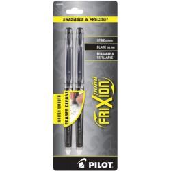 Pilot Frixion Point Erasable 0.5MM - Black Pack Of 2
