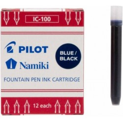 Pilot Namiki Foutain Pen Refill - Ic100 Blu/Blk Pack Of 12