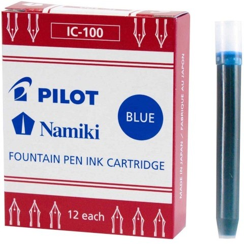 Pilot Namiki Foutain Pen Refill - Ic100 Blue Pack Of 12