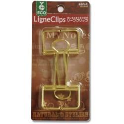 San-K Ligne Clips - Gold Large (2 Clips)