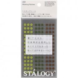 Stalogy Circular Masking Tape Patches - 5mm Shuffle Tree