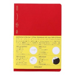 Stalogy 1/2 Year Notebook - A5 Red