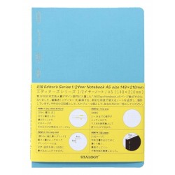 Stalogy 1/2 Year Notebook - A5 Blue