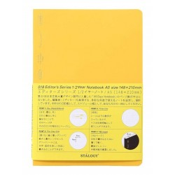Stalogy 1/2 Year Notebook - A5 Yellow