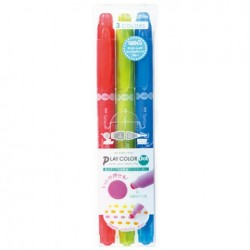 Tombow Play Color Dot - 3 Color Set A (Cherry Red/Apple Green/Blue)