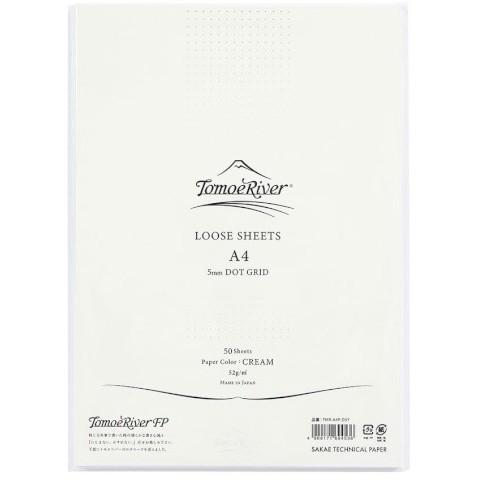 Tomoe River Loose Sheets - A4 Dot Grid 5mm Cream