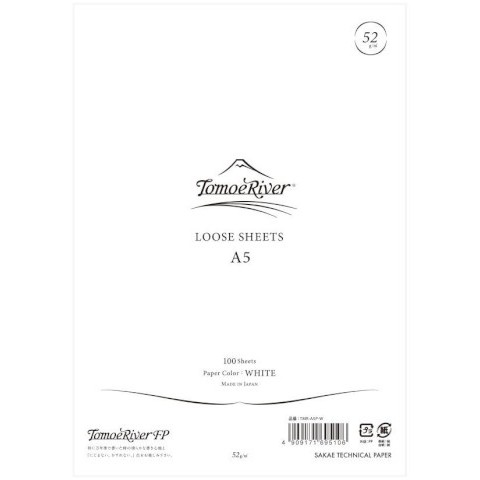 Tomoe River Loose Sheets - A5 Blank White