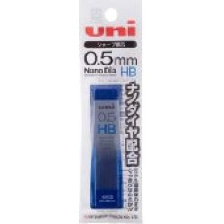 Uni Mechanical Pencil Lead Nano Dia 0.5MM - Hb Black